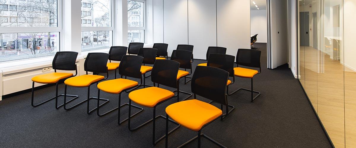Salle de réunion pour la société Hackages.