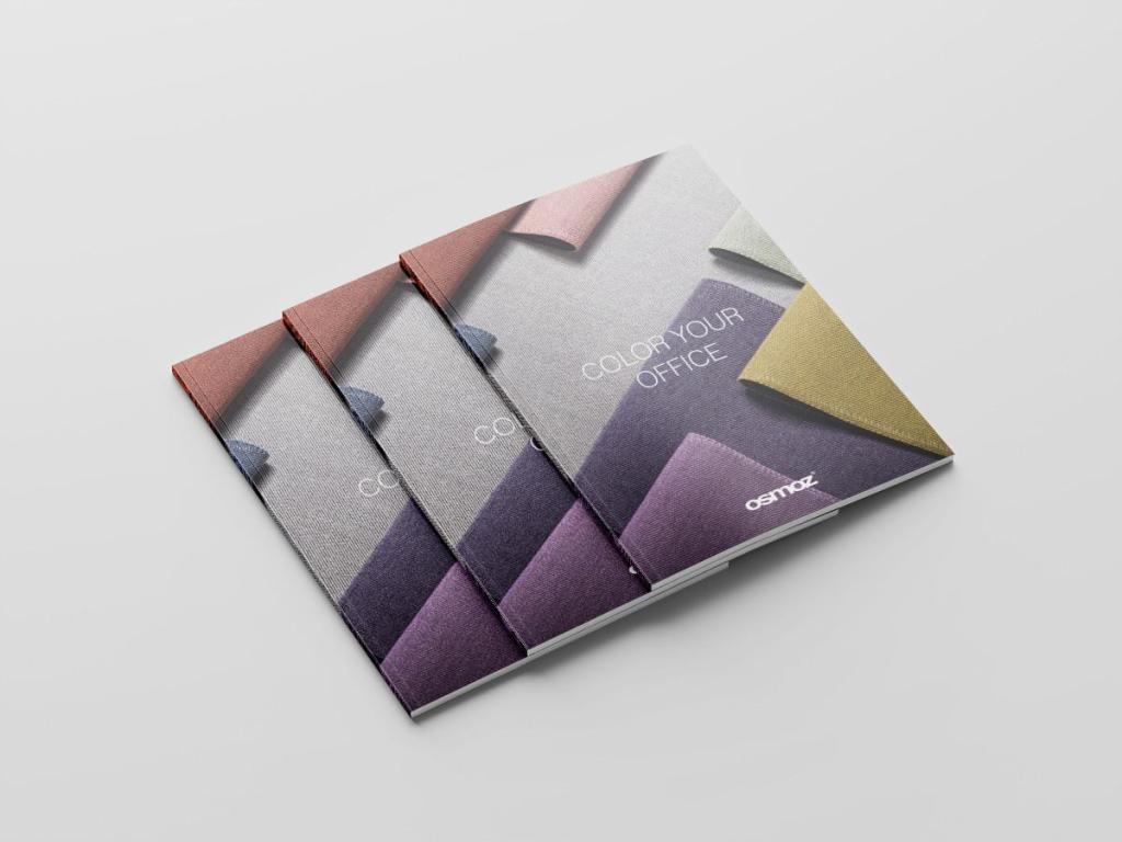 catalogue mobilier de bureau : couleurs et textiles