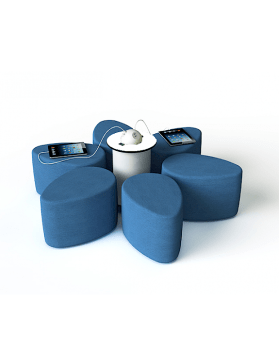 Smart Seatings - Assises 'pouf' connectées.